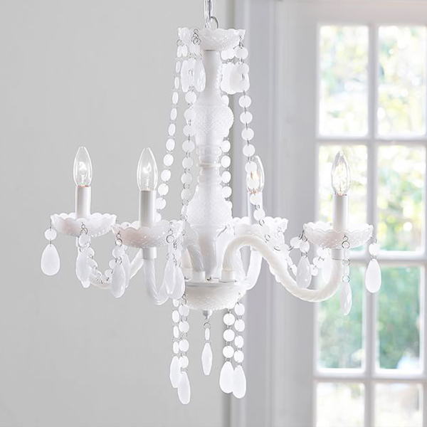 SY-CDL2325-Milk Glass Chandelier White Crystal Chandelier