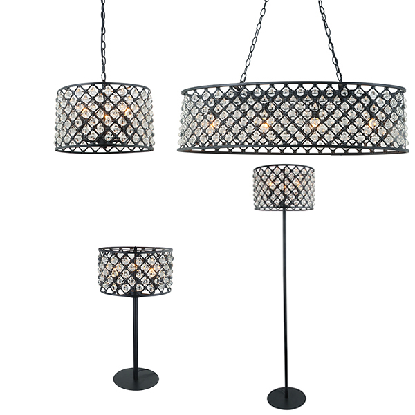 SY- CVBC636-Crystal Vintage Light Collection Ceiling Light Floor Lamp Table Light Pendant Light