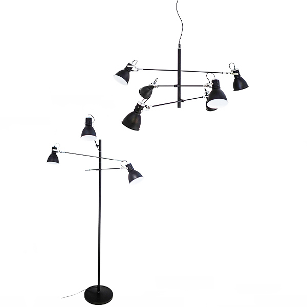 SY-BPLF568-Black  Pendant Light Floor lamp