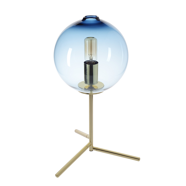 SY-GTL5911-Glass Blue Table Lamp